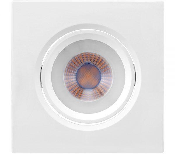 Spot de Embutir Quadrado Orientável LED MR16 4,5W 2700K Bivolt 435731 - Brilia