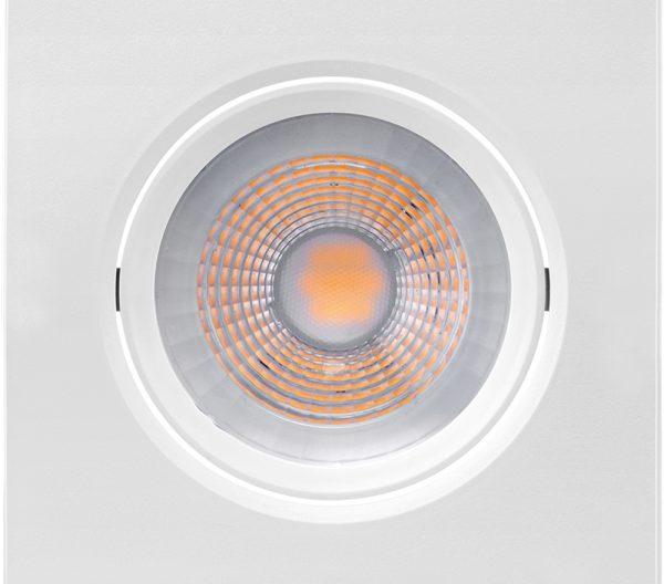 Spot de Embutir Quadrado Orientável LED PAR20 7W 6500K Bivolt 435915 - Brilia