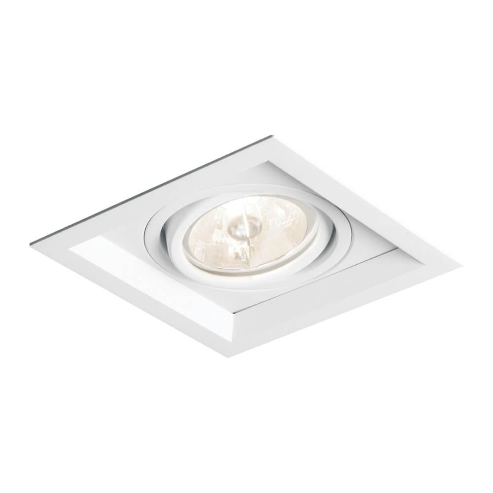Spot de Embutir Quadrado Recuado Orientável em Alumínio 1x AR111 IN51351  Newline