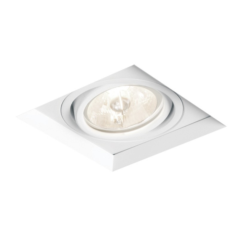 Spot de Embutir Quadrado Recuado Orientável em Alumínio No Frame 1x AR70 IN61341  Newline