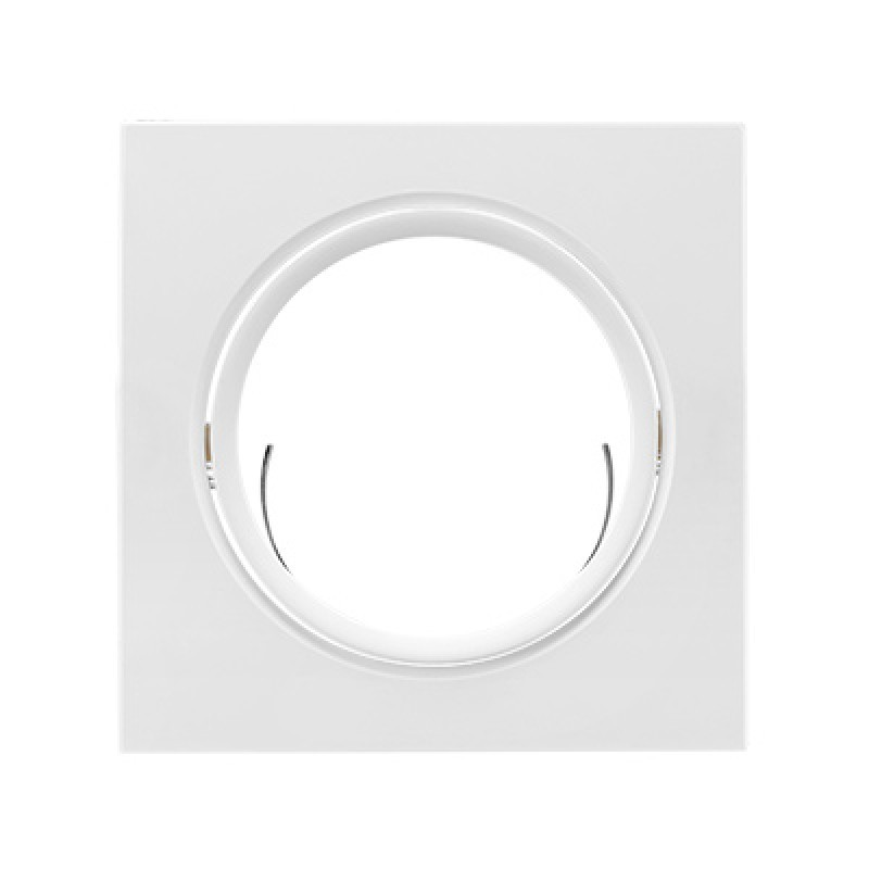 Spot de Embutir Quadrado Rente Orientável em ABS 1x Mini Dicróica 11786 - Kian