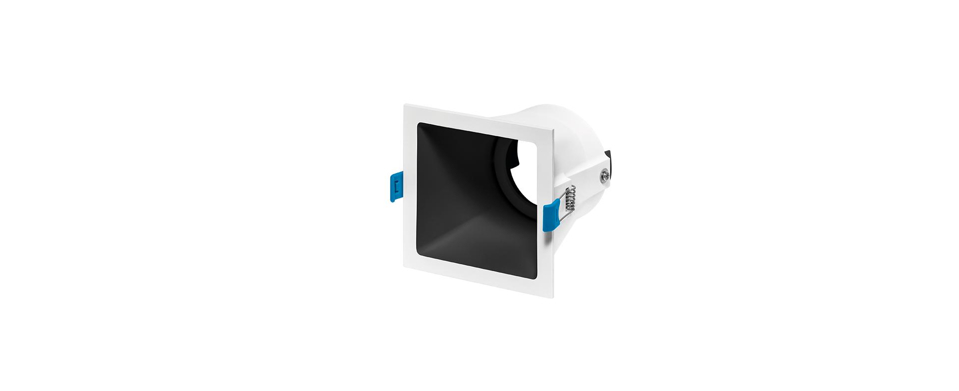 Spot de Embutir Recuado Square Ghost Luz Direcionável 1x AR70 STH8955  Stella Design