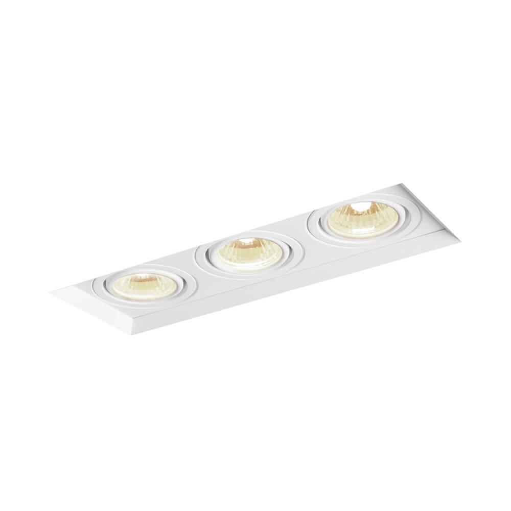 Spot de Embutir Retangular Recuado Orientável em Alumínio No Frame 3x AR111 IN61353 Newline