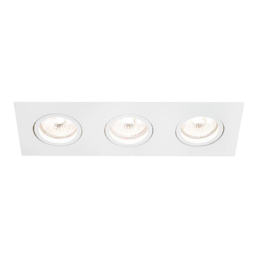 Spot de Embutir Retangular Rente Orientável em Alumínio 3x PAR30 IN55563  Newline