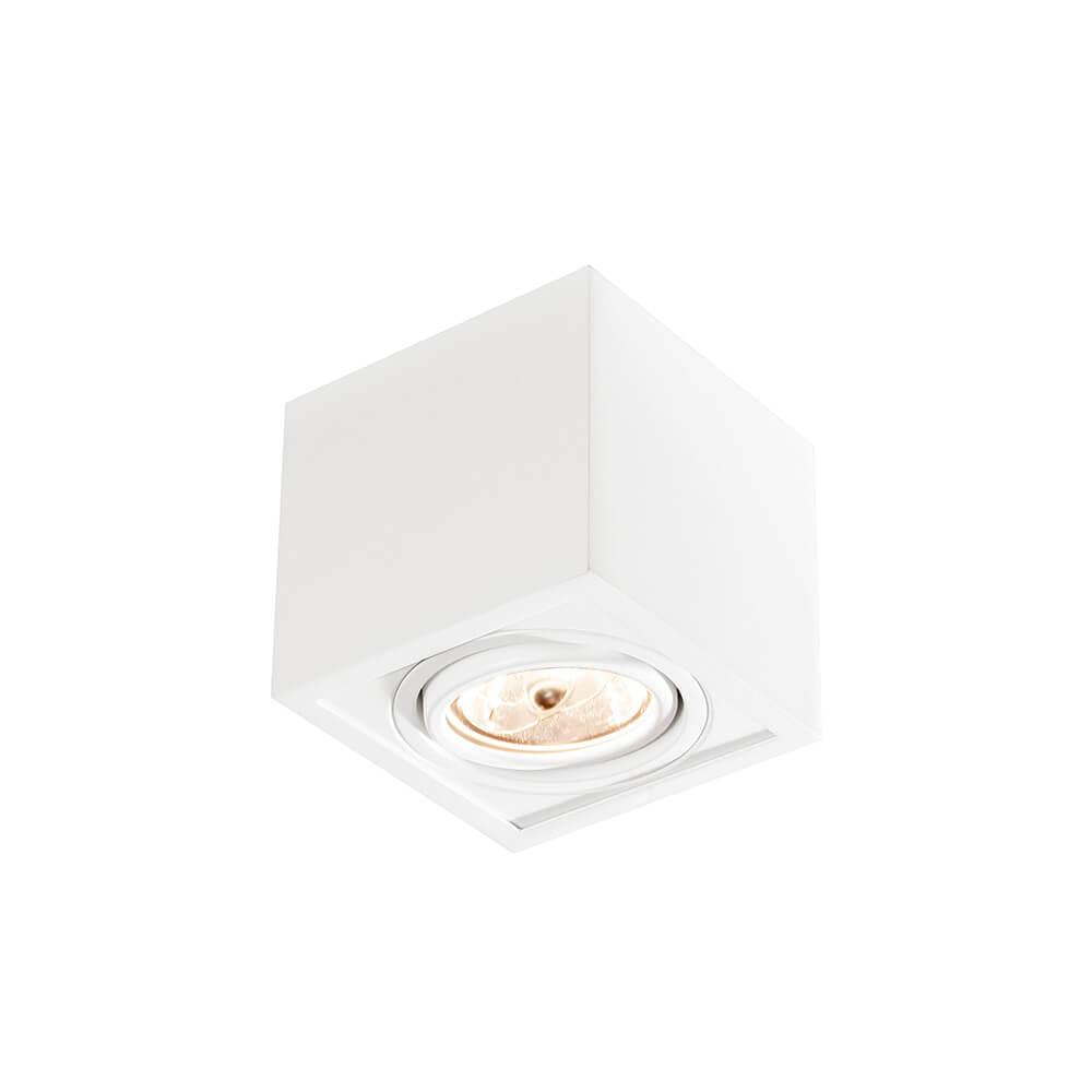Spot de sobrepor Quadrado Box Rente Orientável em Alumínio 1x AR70 IN41141  Newline