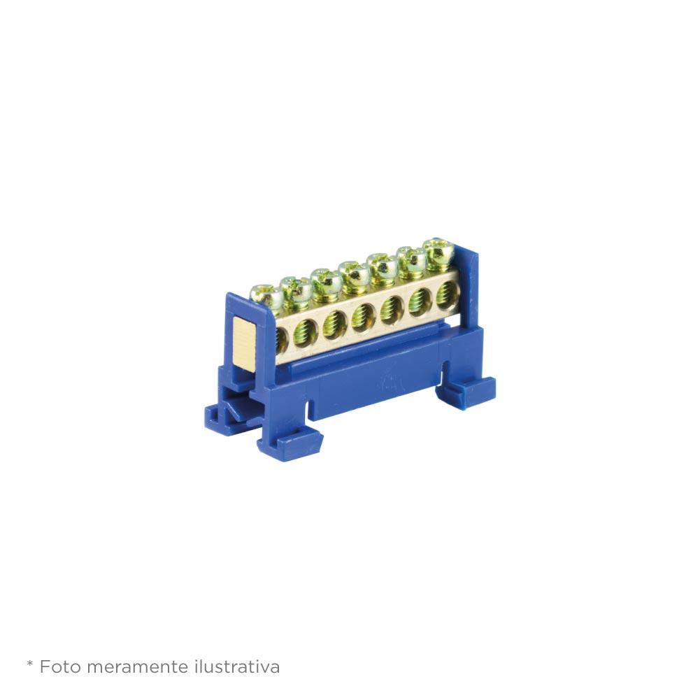 Barramento Foco 07F Neutro Azul