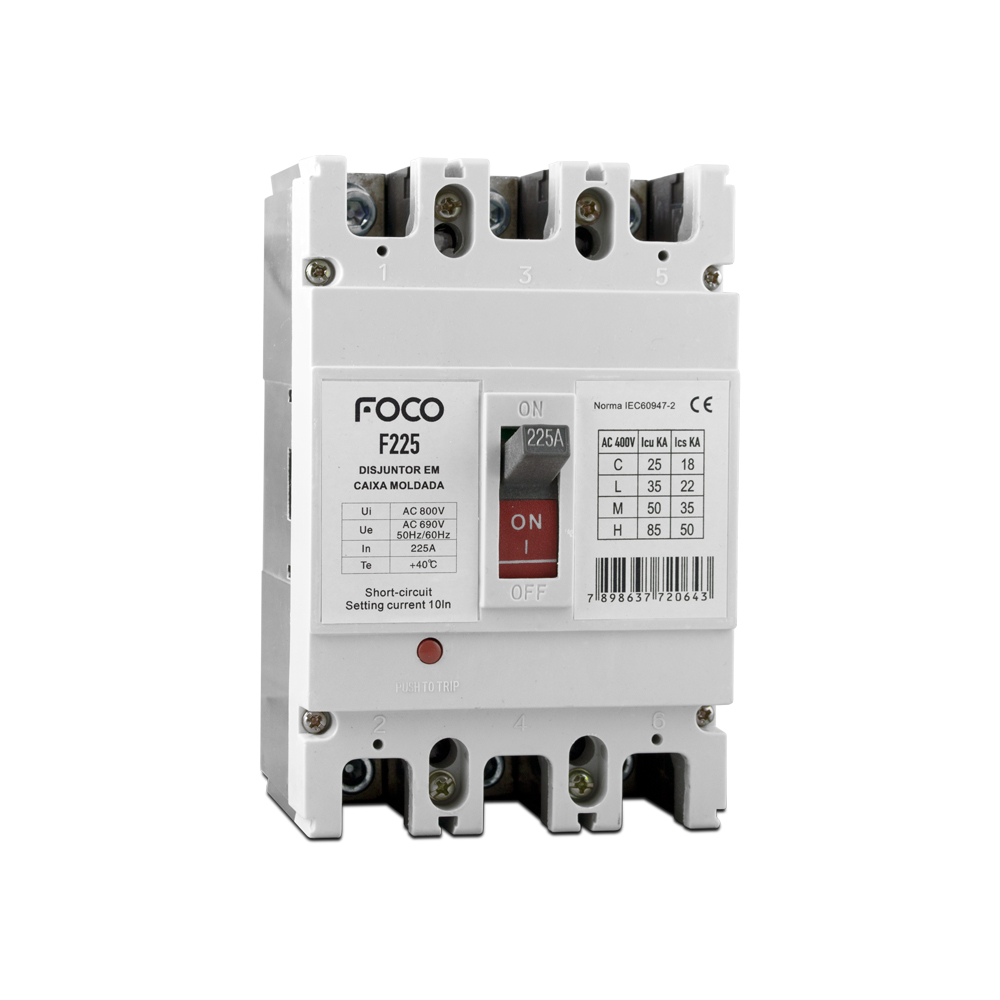 Disjuntor Caixa Moldada Foco 3X200A F200