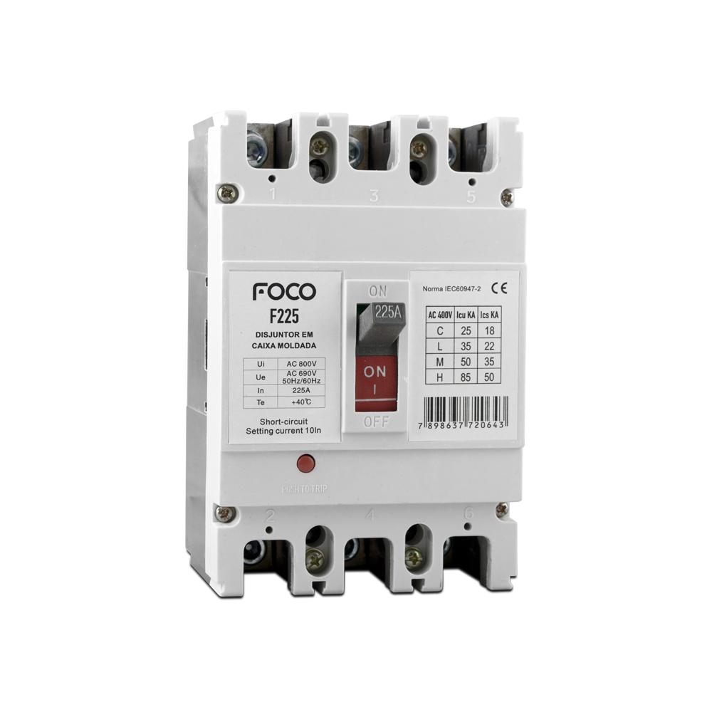 Disjuntor Caixa Moldada Foco 3X225A F225