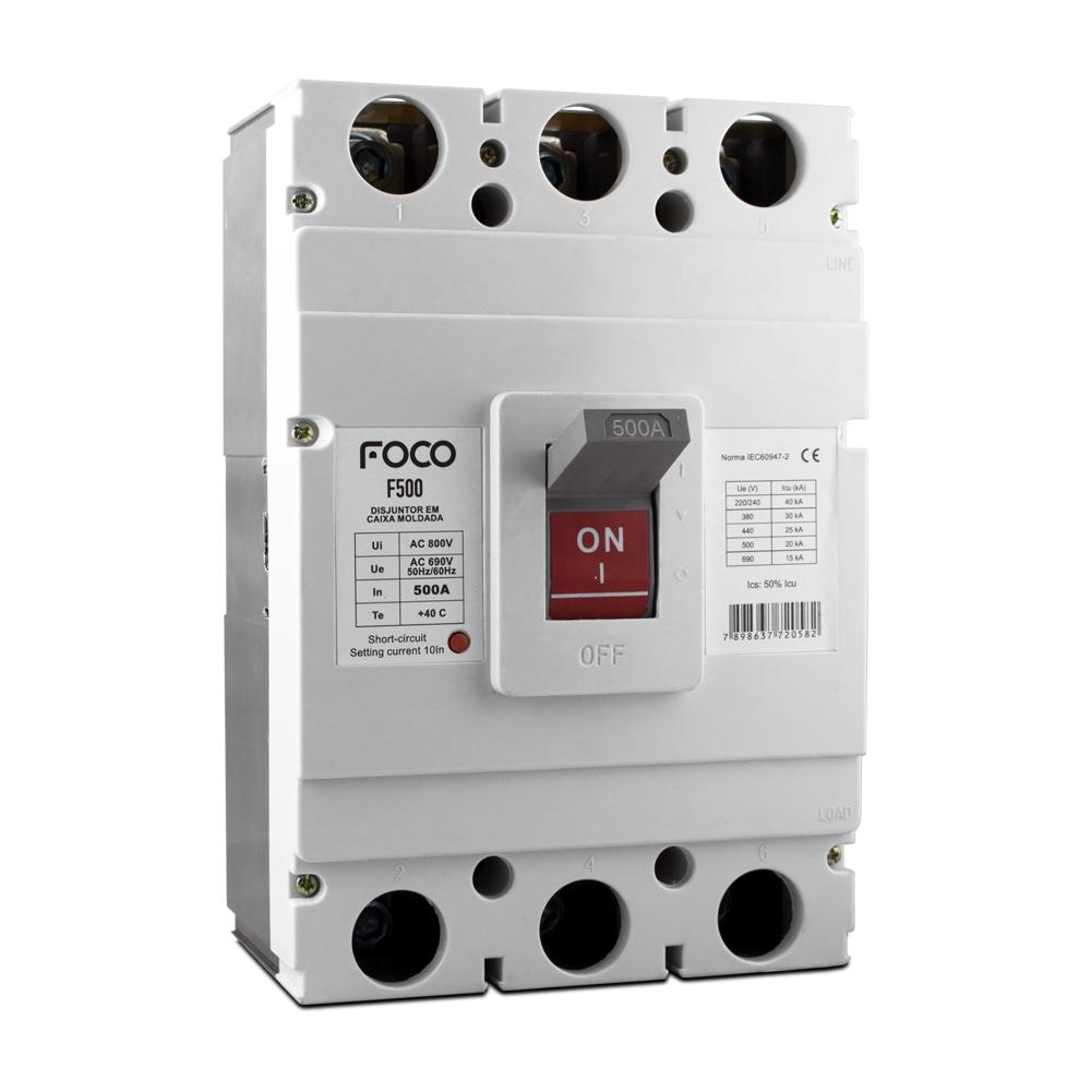 Disjuntor Caixa Moldada Foco 3X400A 40KA  F400