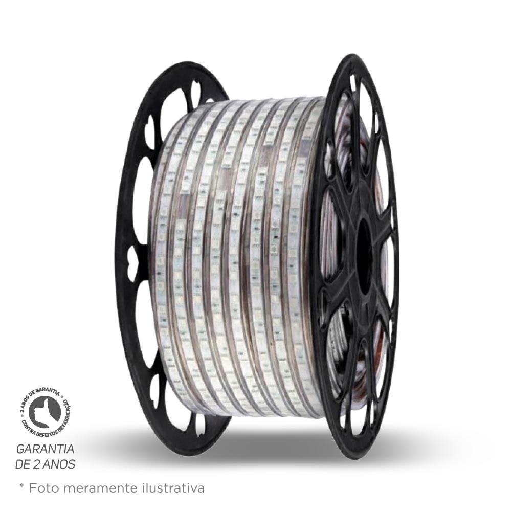 Fita Led IP65 14,4W/M 127V 3000K Rolo c/ 30M Foco
