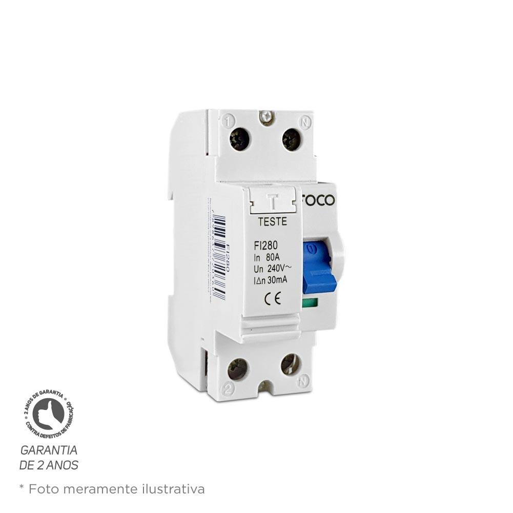 Interruptor Diferencial DR Foco 2X80 30MA