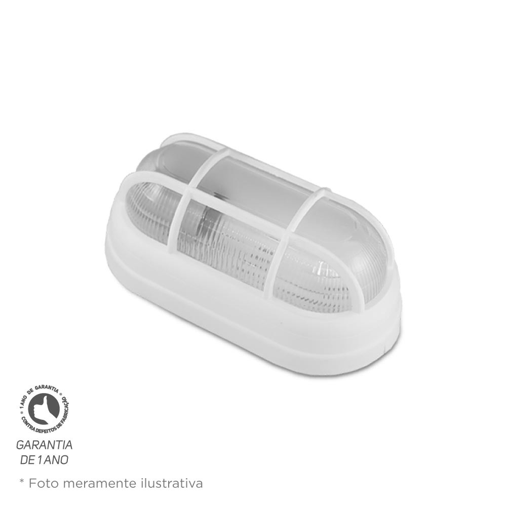 Luminária Foco Tartaruga Branco PVC