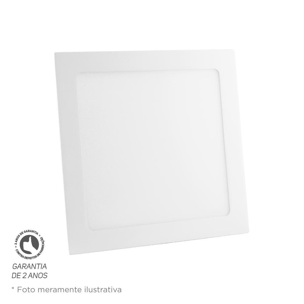 Painel Led Quadrado Embutir 18W 22X22 2700K Bivolt Foco