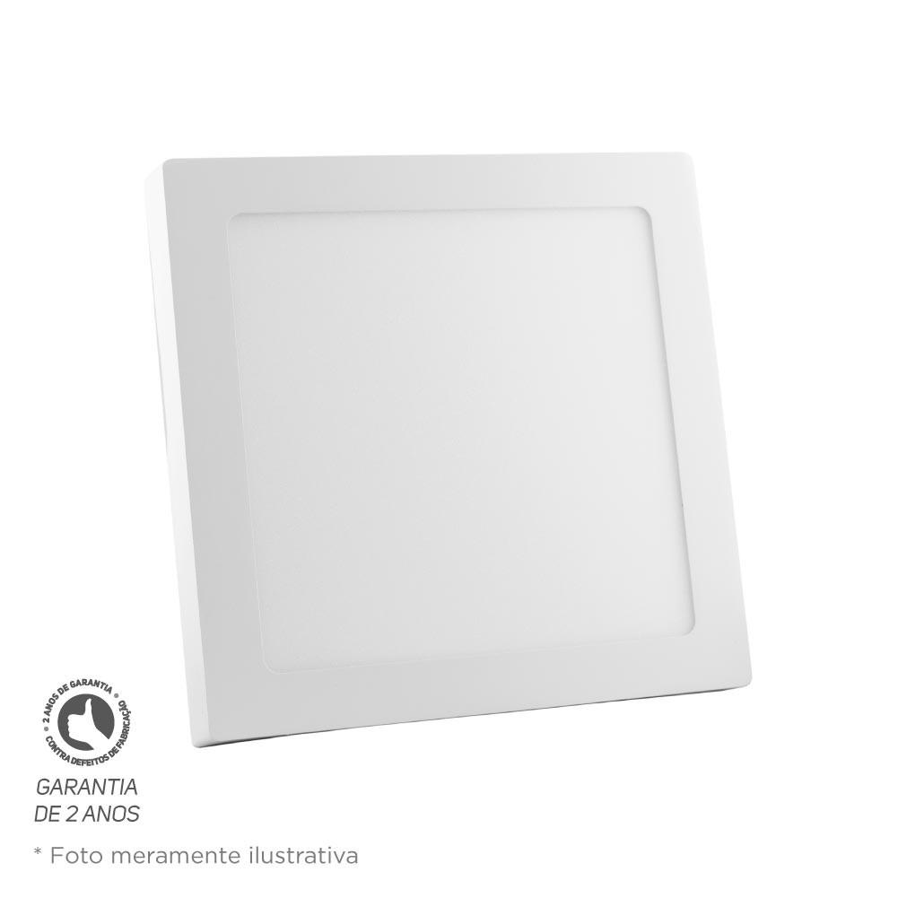 Painel Led Quadrado Sobrepor 24W 28,5X28,5 2700K Bivolt Foco