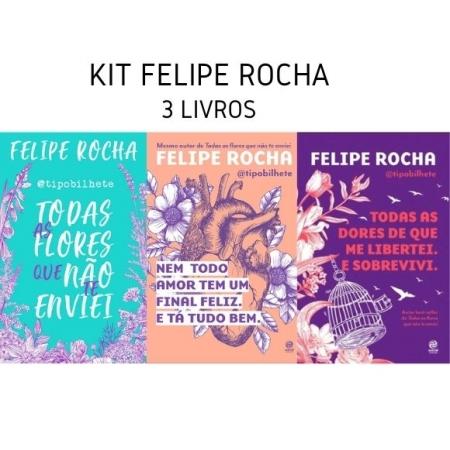 KIT FELIPE ROCHA TIPO BILHETES - 3 LIVROS
