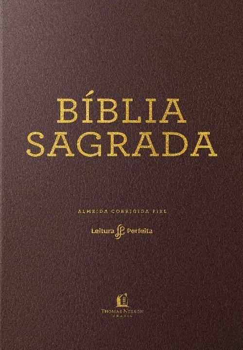 BÍBLIA ACF, COURO SOFT, MARROM, LEITURA PERFEITA