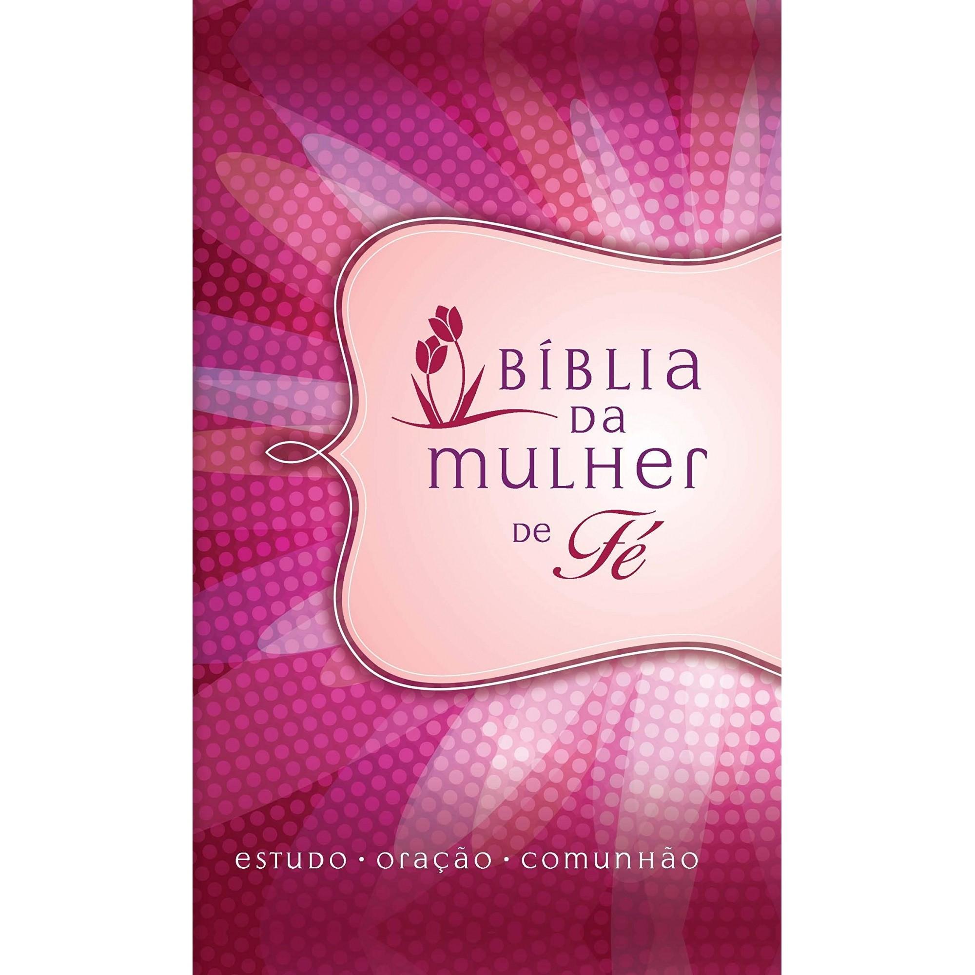 BÍBLIA DA MULHER DE FÉ, NVI, COURO SOFT, MARGARIDA