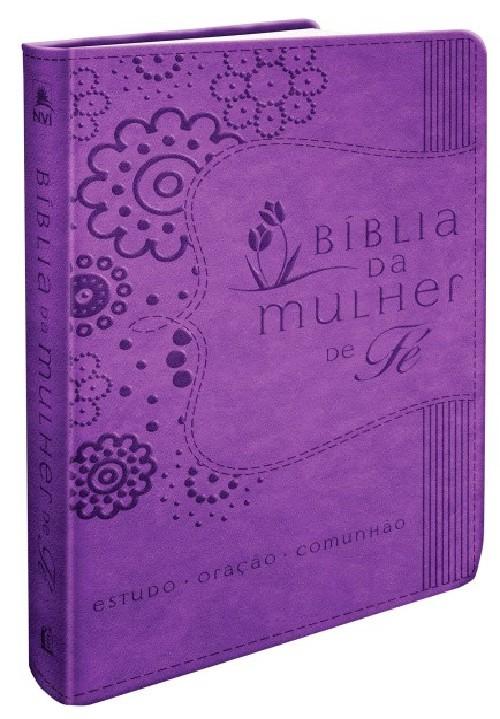 BÍBLIA DA MULHER DE FÉ, NVI, COURO SOFT, ROXO