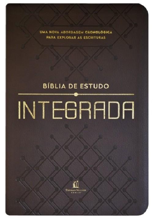 BÍBLIA DE ESTUDO INTEGRADA, NVI, COURO SOFT, MARROM