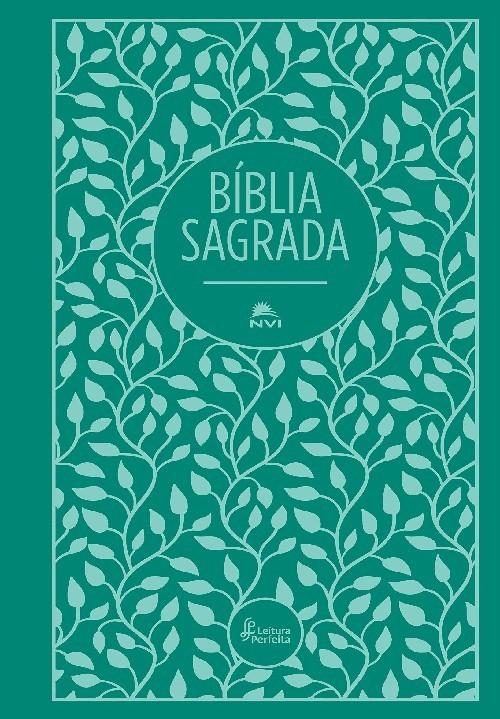 BÍBLIA NVI, CAPA DURA, TECIDO, VERDE, LEITURA PERFEITA