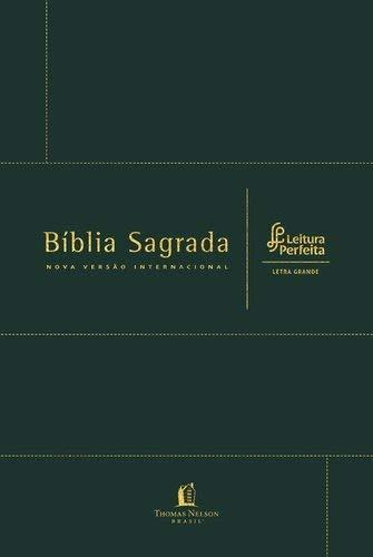BÍBLIA NVI, COURO BONDED, VERDE, LETRA GRANDE, LEITURA PERFEITA