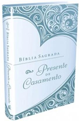 BIBLIA SAGRADA PRESENTE DE CASAMENTO (CAPA AZUL)