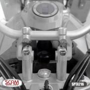 Alongador De Guidão Riser Bmw F850 Gs F850gs - Preto Prata