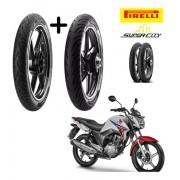 Combo Pneus Honda Cg 150 Titan Dianteiro +tras Pirelli S/cam