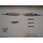 Faixa Biz 100 Es 05 - Moto Cor Verde Metalico - Kit 652