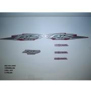 Faixa Biz 100 Ks 05 - Moto Cor Vermelha (647 - Kit Adesivos)
