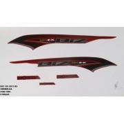 Faixa Biz 125 Ex 13 - Moto Cor Vermelha - Kit 1090