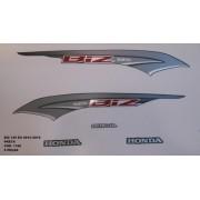 Faixa Biz 125 Ex 14 - Moto Cor Preta (1160 - Kit Adesivos)