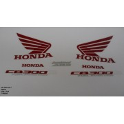 Faixa Cb 300r 11 - Moto Cor Preta - Kit 1024