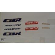 Faixa Cbr 450 89/90 - Moto Cor Branca (190 - Kit Adesivos)