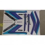 Faixa Cbx 150 Aero 92/93 - Moto Cor Azul - Kit 174