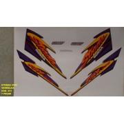 Faixa Cbx 200 Strada 00 - Moto Cor Vermelha - Kit 411