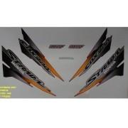 Faixa Cbx 200 Strada 01 - Moto Cor Preta - Kit 448