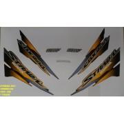 Faixa Cbx 200 Strada 01 - Moto Cor Vermelha - Kit 446