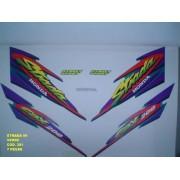 Faixa Cbx 200 Strada 99 - Moto Cor Verde - Kit 381