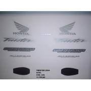 Faixa Cbx 250 Twister 04 - Moto Cor Azul - Kit 626