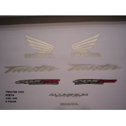 Faixa Cbx 250 Twister 05 - Moto Cor Preta - Kit 644