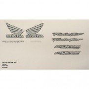 Faixa Cbx 250 Twister 06 - Moto Cor Preta Kit - 699