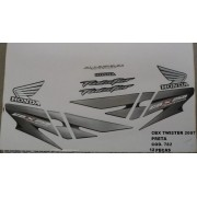 Faixa Cbx 250 Twister 07 - Moto Cor Preta - Kit 782