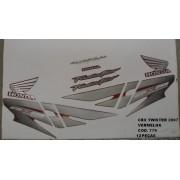 Faixa Cbx 250 Twister 07 - Moto Cor Vermelha - Kit 779