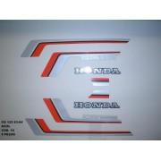 Faixa Cg 125 83/84 - Moto Cor Azul 14 - Kit Adesivos