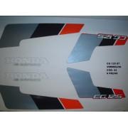 Faixa Cg 125 87 - Moto Cor Vermelha - Kit 22