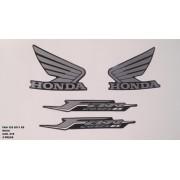 Faixa Cg 125 Fan Es 11 - Moto Cor Roxa (978 - Kit Adesivos)