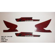 Faixa Cg 125 Fan Es 12 - Moto Cor Preta - Kit 1039