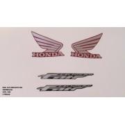 Faixa Cg 125 Fan Ks 09/10 - Moto Cor Vermelha - Kit 849..