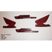 Faixa Cg 125 Fan Ks 12 - Moto Cor Preta - Kit 1036